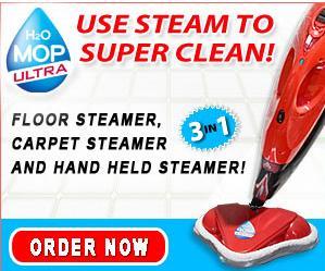 H2o Ultra Steam Mop Cleans All Floors