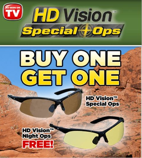 77e3c64525 HD Vision Special Ops Sunglasses As Seen On TV