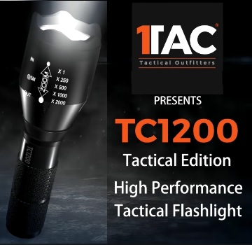 Tactical Military Grade High Performance TC1200 Flashlight